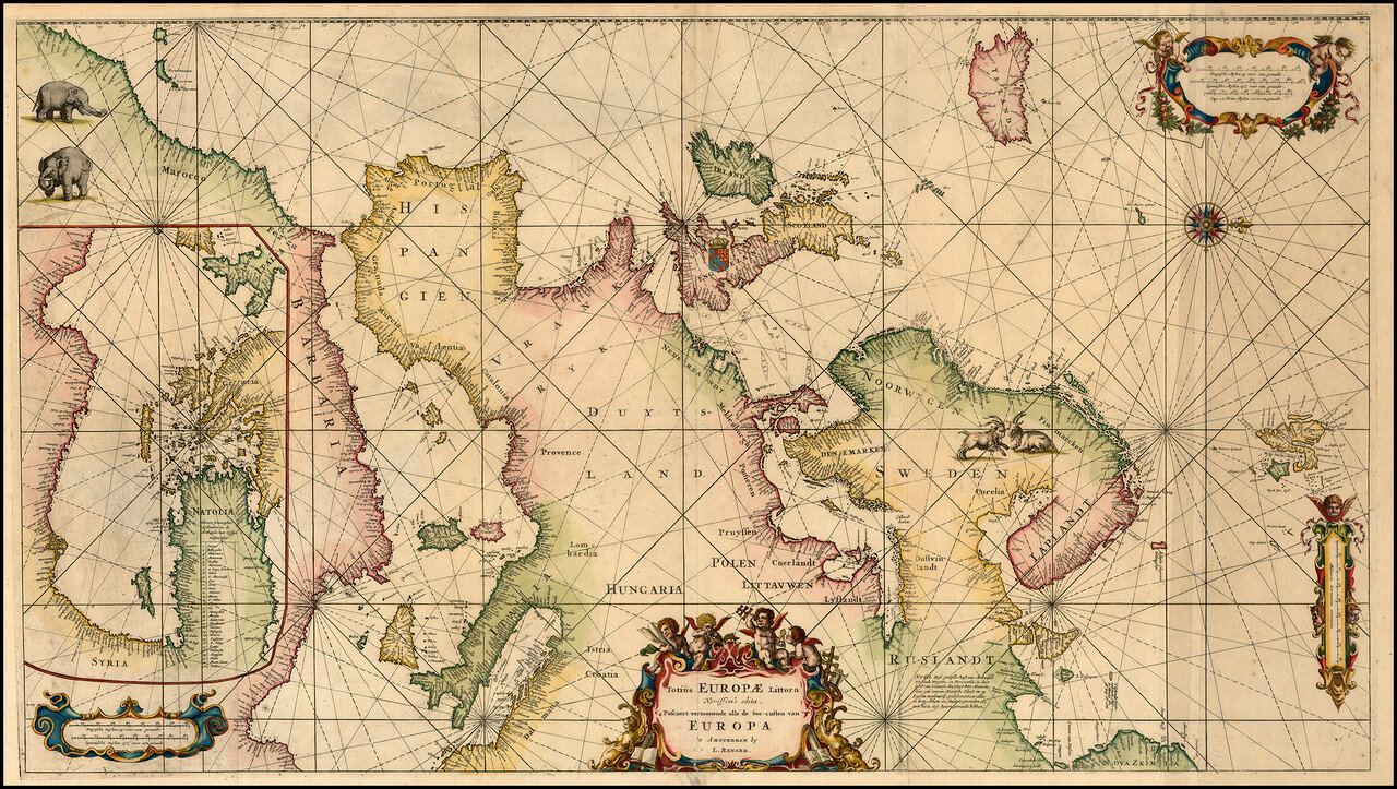 1715. Карта Европы