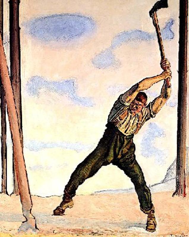 Дровосек, 1910, Фердинанд Ходлер (1853-1918), Художественный музей. Берн.