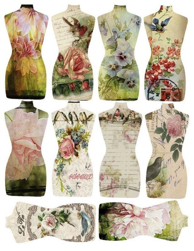 Идеи для декупажа платья