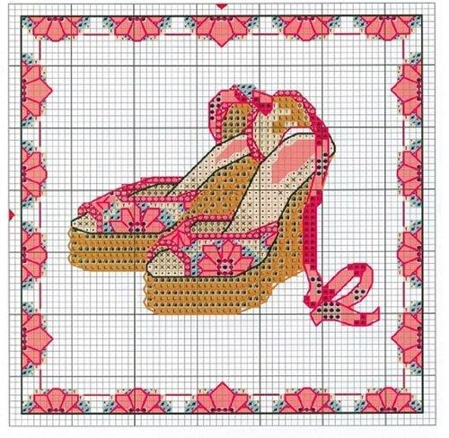 Туфли схема для вышивки