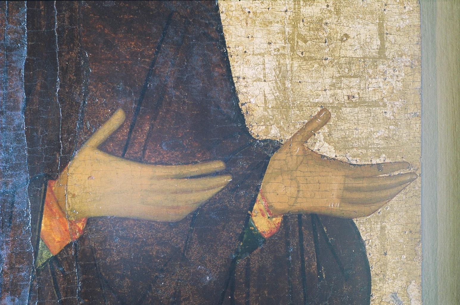 Пресвятая Богородица. Икона из деисусного чина. Вологда. Фрагмент.