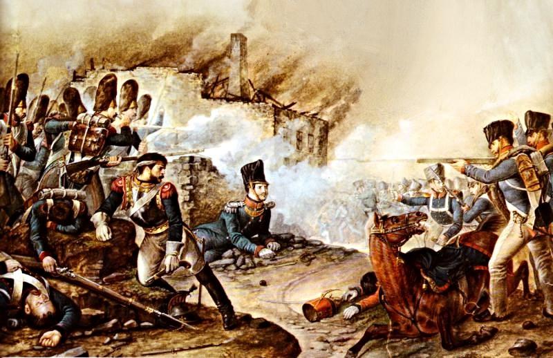 Ватерлоо.Прусская пехота в бою со Старой гвардией за Плансенуа.jpg
