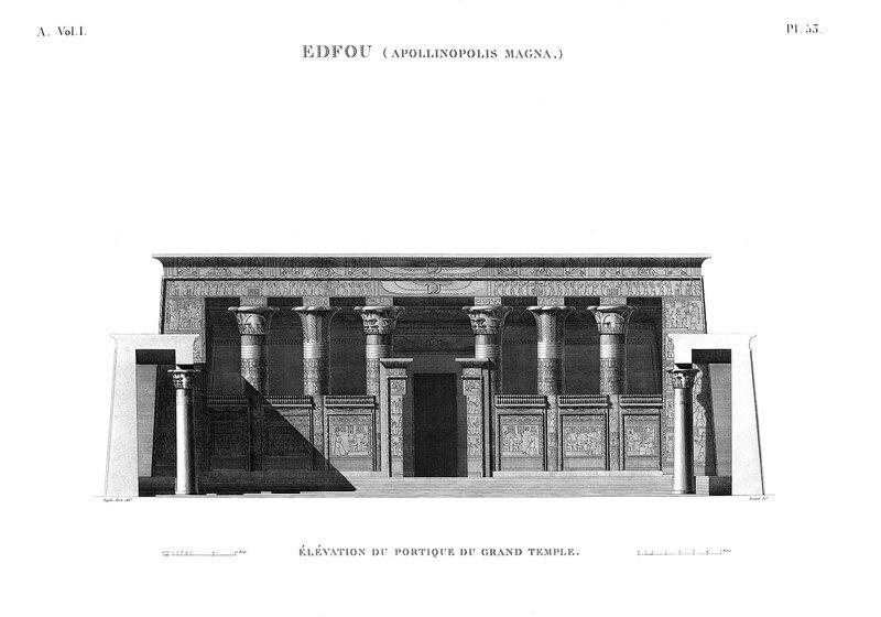Храм Эдфу, чертежи