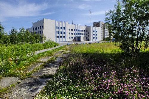 Фото города Инта №7102  Северо-западный угол Мира 51 (школа №10) 13.08.2014_12:44
