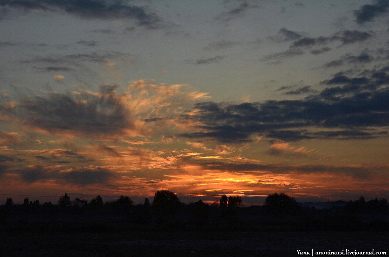 Закат над Гомелем