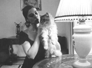 Моника Беллуччи с кошкой
