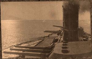 Артиллерийские башни линейного корабля Севастополь.