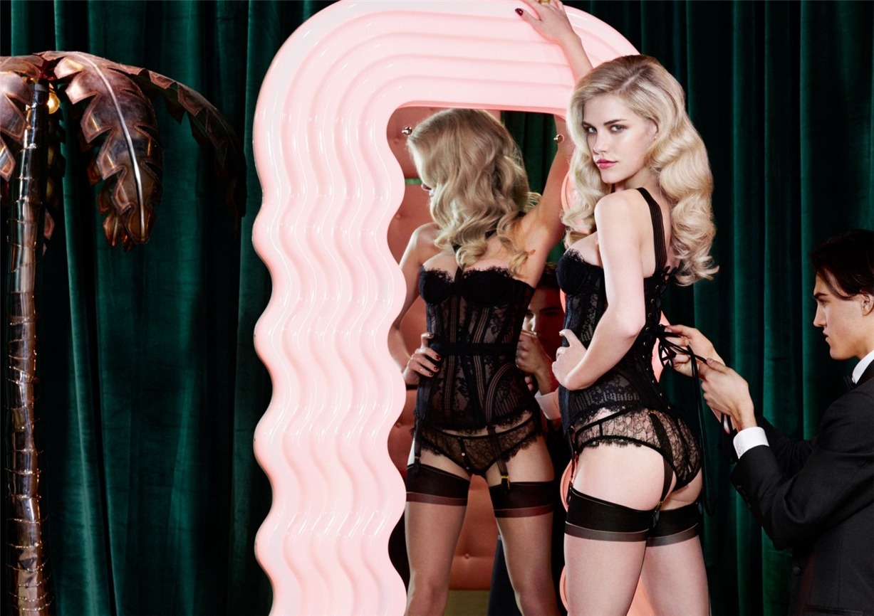 Ashley Smith, Dioni Tabbers by Christian Larson for Agent Provocateur fall/winter 2014/15 -Fione