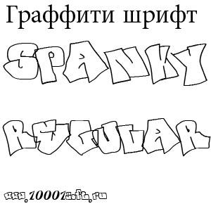 Граффити шрифт SPANKY