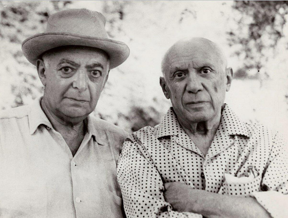 1966. Пикассо и Брассай в Мужене, Нотр-Дам-де-Ви