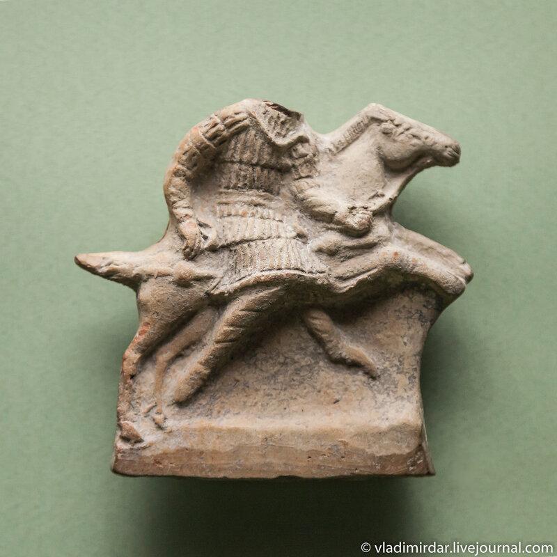 Фигурка всадника. Глина. Вторая половина I-II века. Керчь.