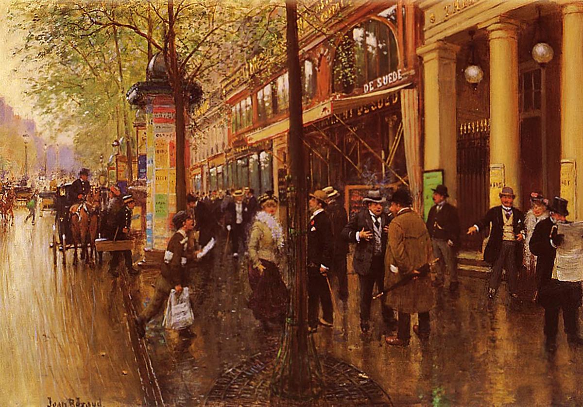 Большие Бульвары. Театр Варьете. (1880-1890) Жан Беро_Это время и атмосфера работ Мопассана