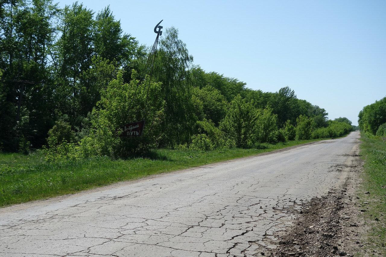 типичная дорога юга Тульской области