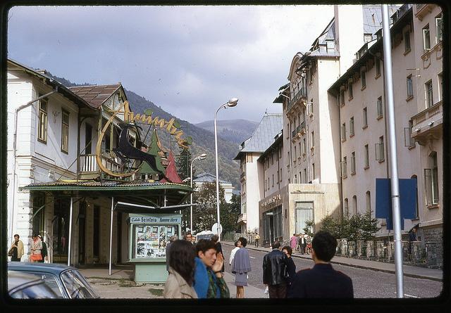 Oct 71 - 17 [Siania, Romania; Hotel Palace on right]
