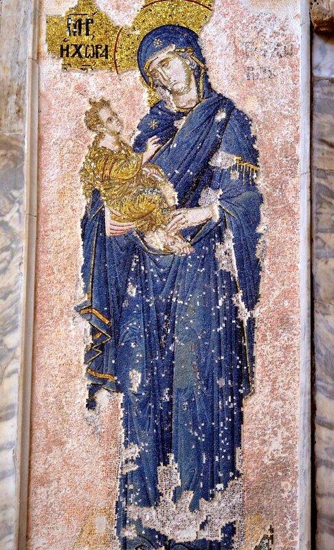 Богоматерь Хора ту Ахориту. Мозаика монастыря Хора в Константинополе. 1315 - 1321 годы.