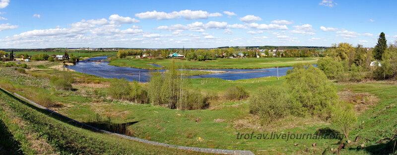 Вид от монастыря на реку Москва, Можайский Лужецкий Ферапонтов мужской монастырь