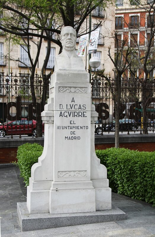 Madrid. The Aguirre School. Monument To Lucas Aguirre-Juarez