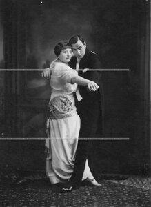"""Пионтковская В. И. и ее партнер Шульгин И. Т. в танце """"Танго""""."""