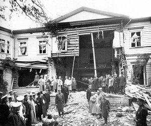 Дача П.А.Столыпина на Аптекарском острове, пострадавшая от взрыва