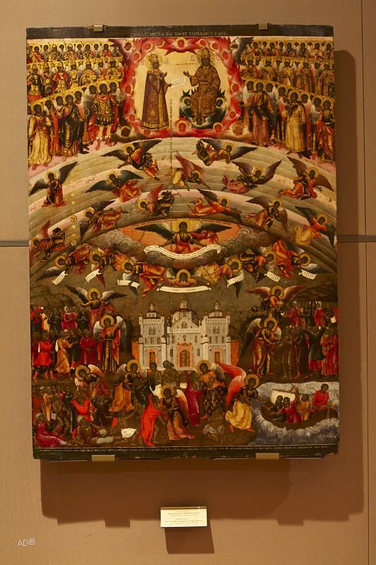 Богоматерь «Всех скорбящих радость», Квашнин Алексей Иванов, 1707, 152 × 109 см, Государственная Третьяковская галерея