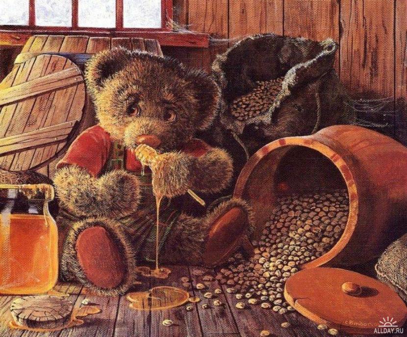 Плюшевые мишки иллюстратора John Bindon