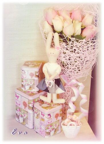 Зайка и розы...(2)