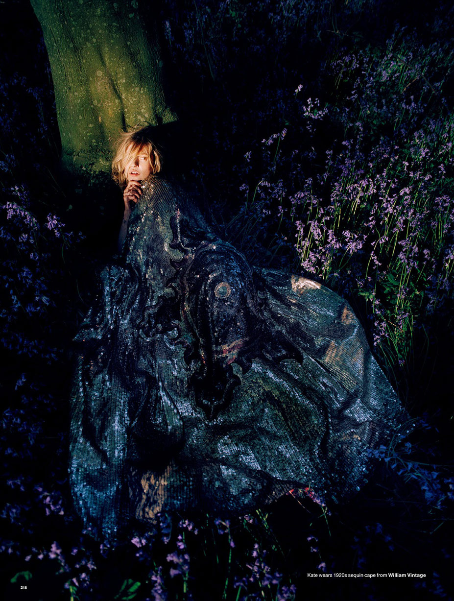Kate Moss, Edie Campbell, Jean Campbell, Matilda Lowther, Harry Hose, Jake Love - Wizard by Tim Walker in Love fall-winter 2014/15