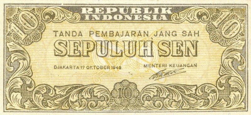 Индонезия, 10 сен, 1945