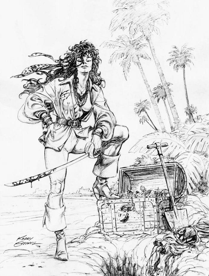 Графика: истории из жизни девушек - пираток (36)
