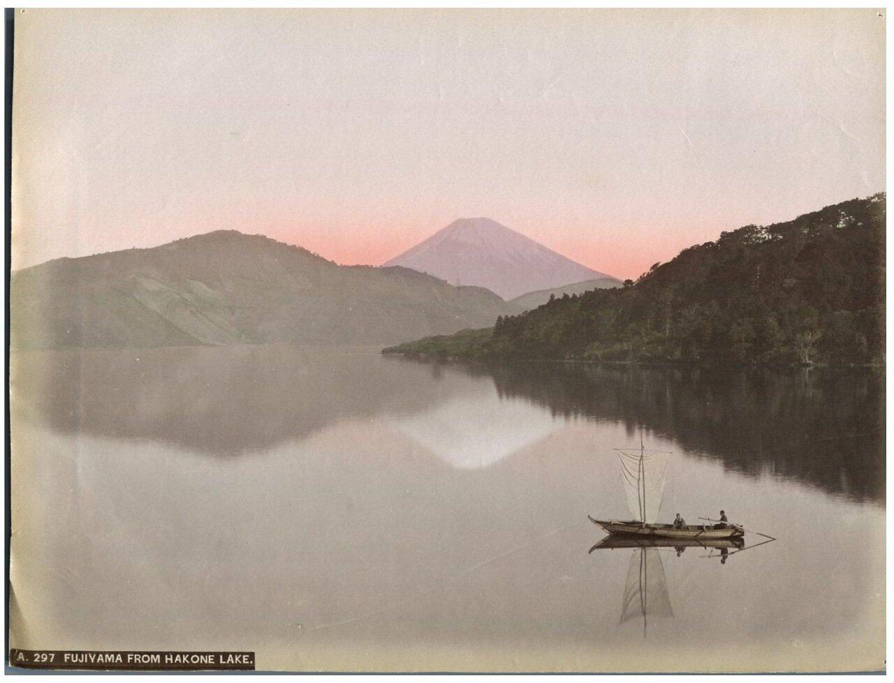 Фудзияма с озера Хаконе