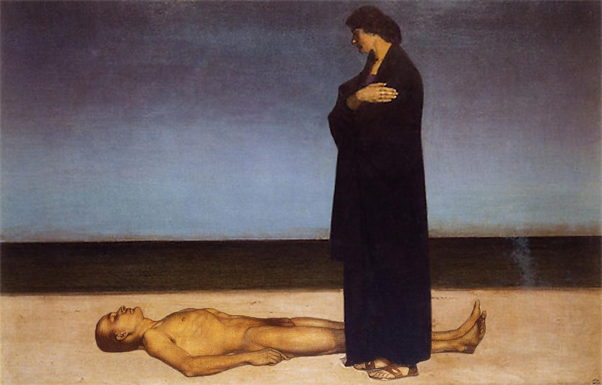 Мёртвый у моря, 1914, Оскар Цвинчер(1870-1916)