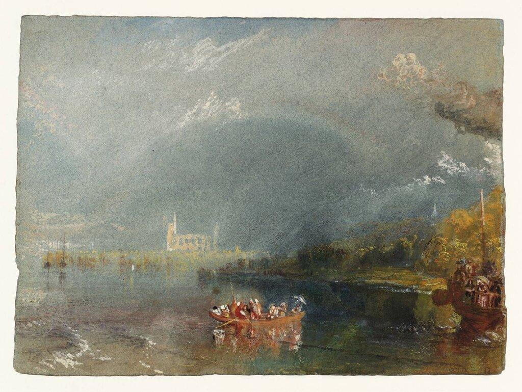 JumiГЁges circa 1832 by Joseph Mallord William Turner 1775-1851