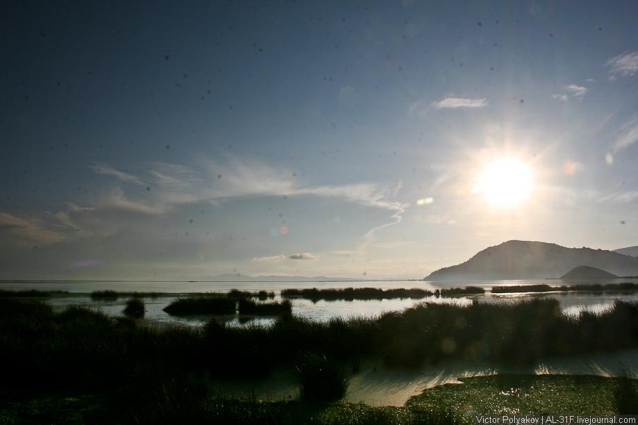 Рассвет на озере Титикака