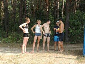 Районный турнир по пляжному волейболу. П. Дубровка, 10 августа 2014 года. Рябчинцы на турнире:)