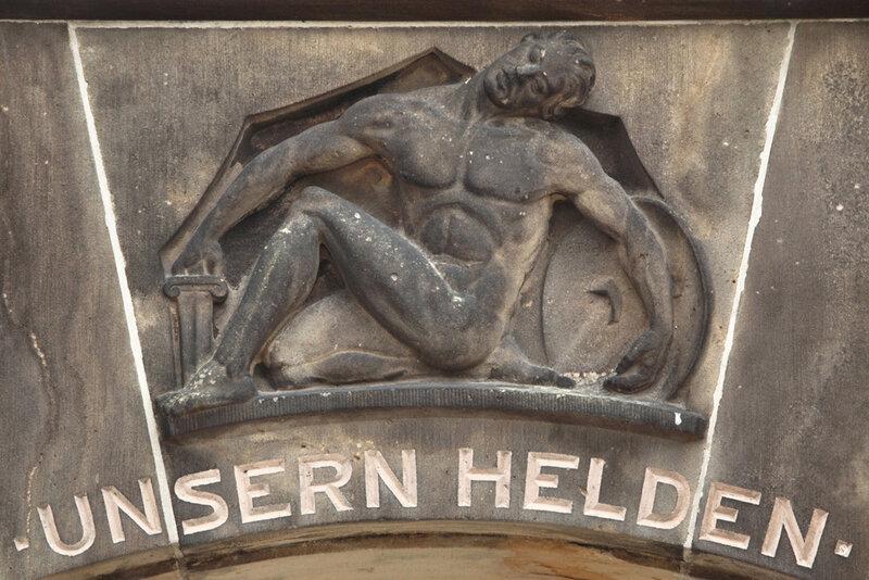 Мемориал павшим немецким солдатам на кладбище города Баутцен в Саксонии