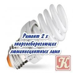 Книга Книга Ремонт 2 х энергосберегающих люминесцентных ламп
