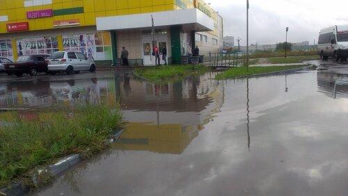 Декоративная ливневая канализация на привокзальной площади Барабинска