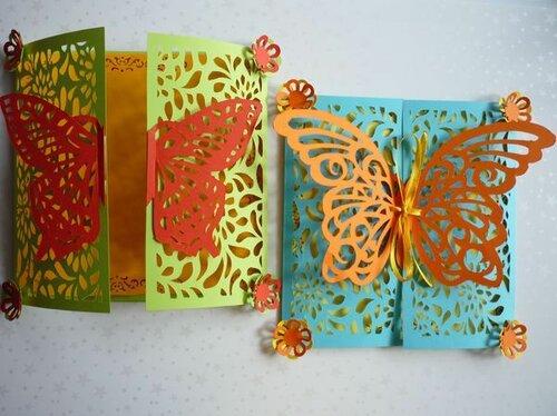 Ажурные открытки-бабочки
