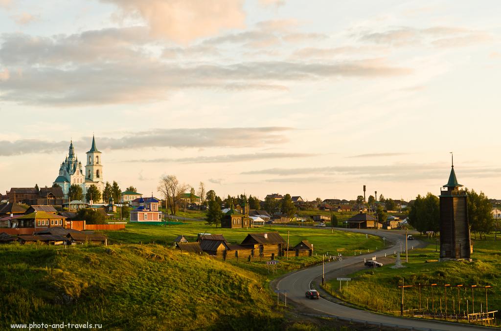 13. Панорамный вид музея-заповедника деревянного зодчества Нижняя Синячиха
