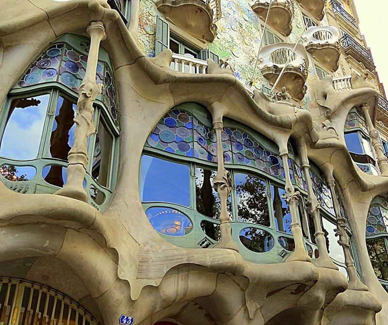 Балконы дома  Бальо.