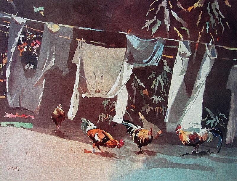 Акварели лета. Американский живописец -  Judi Betts