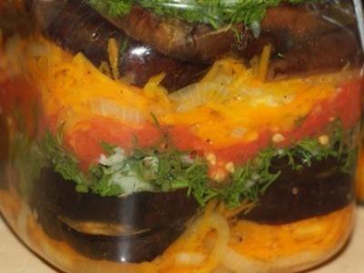 Полосатый салат на зиму