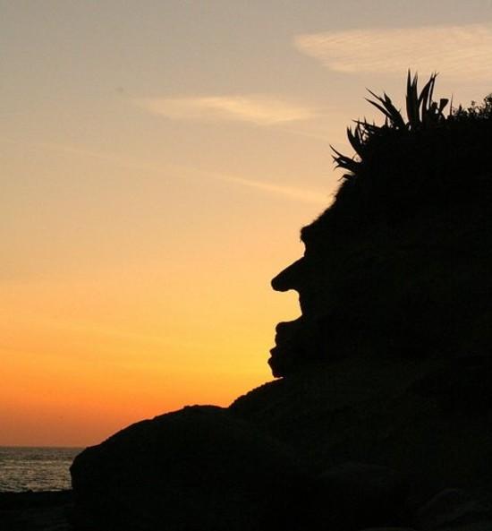 Человеческий профиль природного происхождения