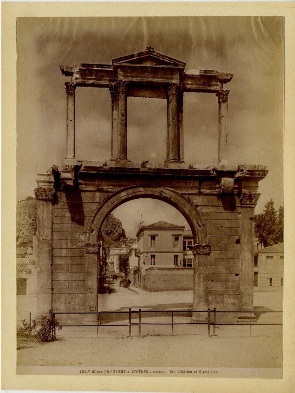 1890. Арка Адриана и Олимпикон