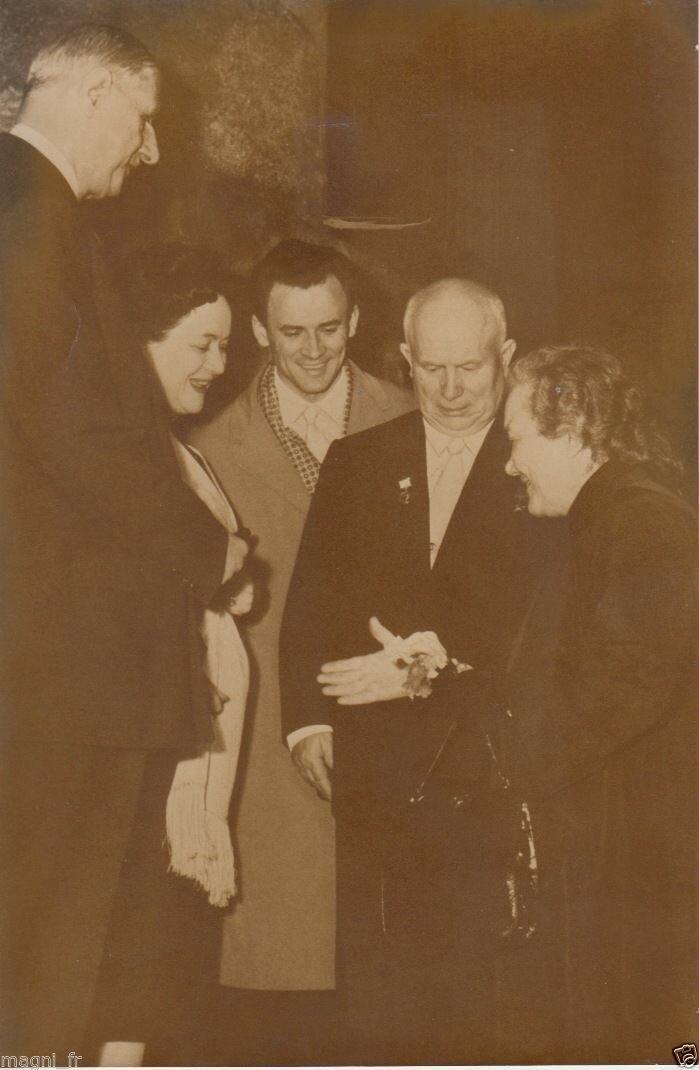 1960. Де Голль и Хрущев с супругами