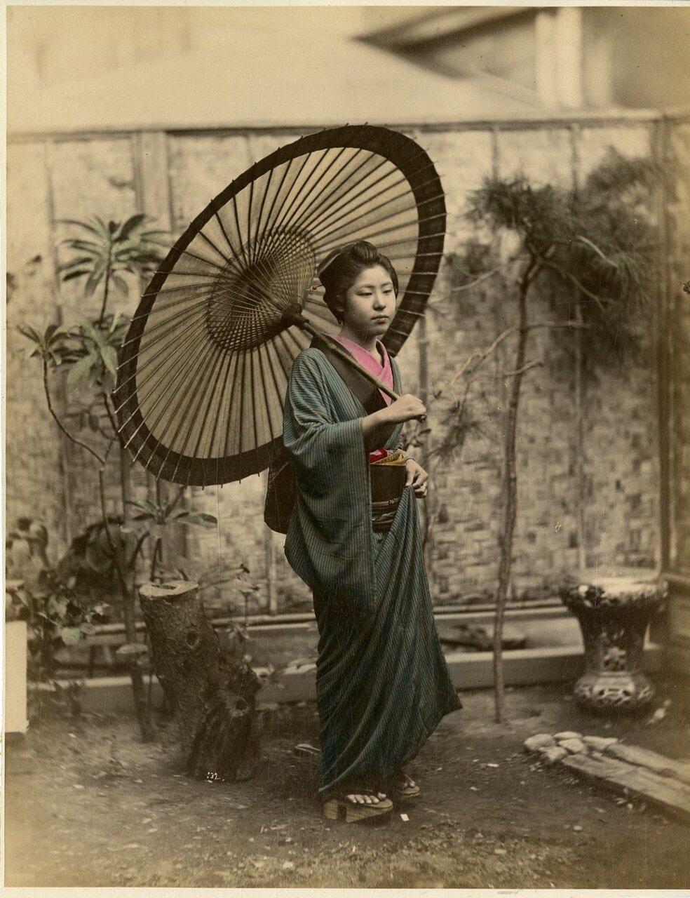 Японка с зонтиком