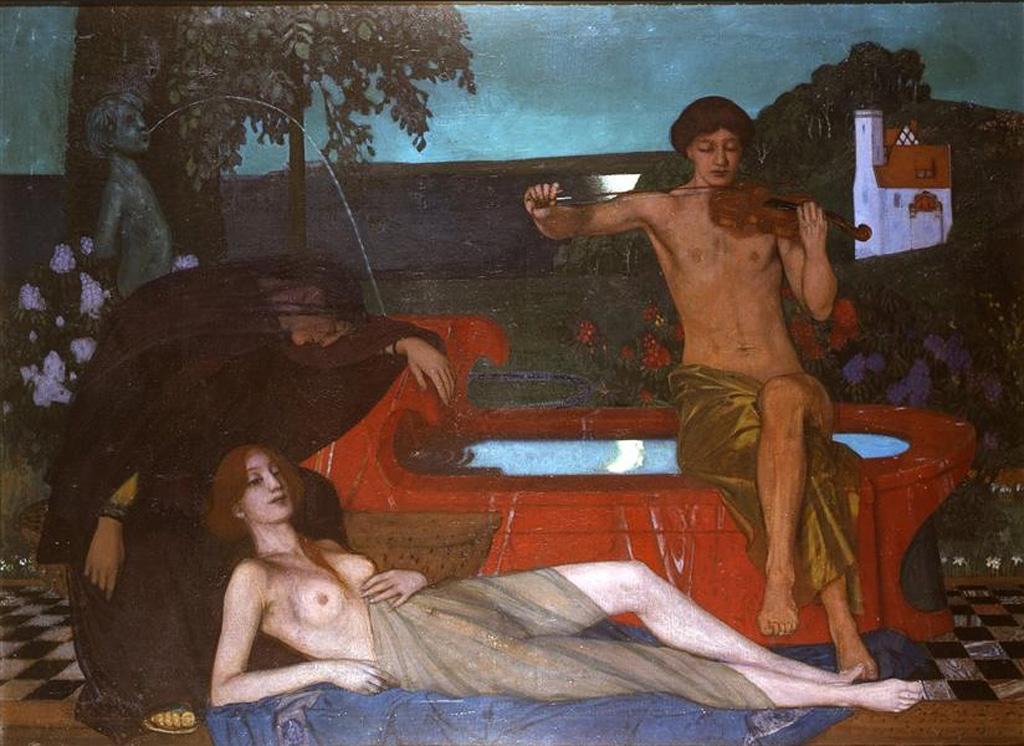 Мелодия, ок. 1900, Оскар Цвинчер (1870-1916), Германия