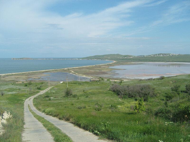 озеро Чокрак и бухта Морской Пехоты
