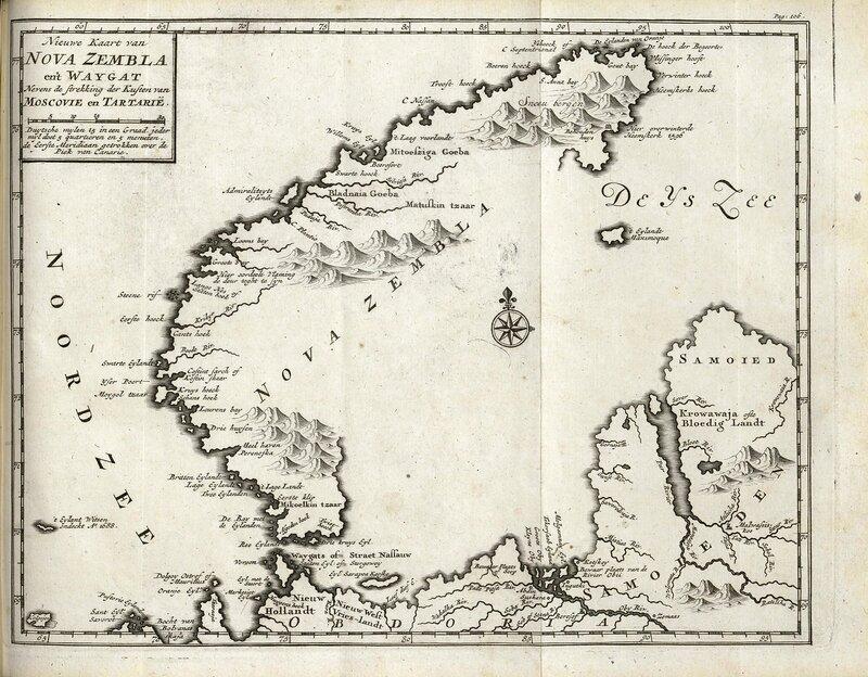 Map of Novaya Zemlya from 1720.