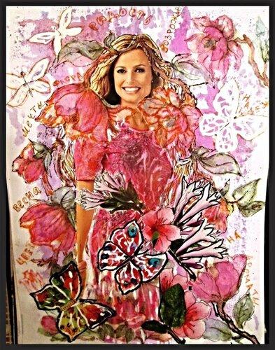 розовая флора